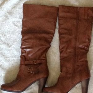 Women's size 11 boots. Heels are almost 4 inches.